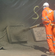 Quality Management spraying Concrete